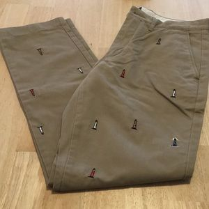 NWT broken in Chinos with Lighthouse Embroidery